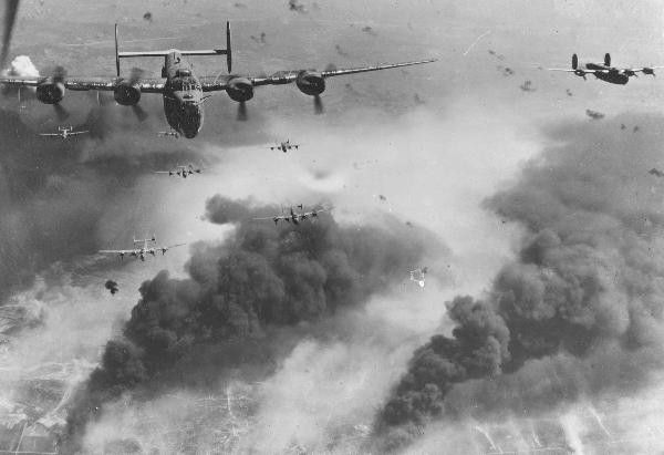 B-24Ds over the Ploesti oil refineries in Rumania during World War II ... For a pilot's personal video report visit B-24CombatMissions1944.com